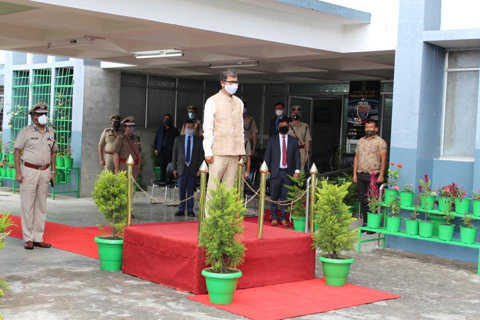 Visit of Hon'ble Home Minister Shri. Lahkmen Rymbui at PHQ