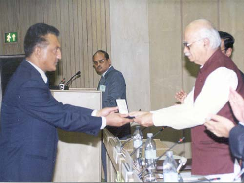 Shri A. Pradhan, IPS receiving award