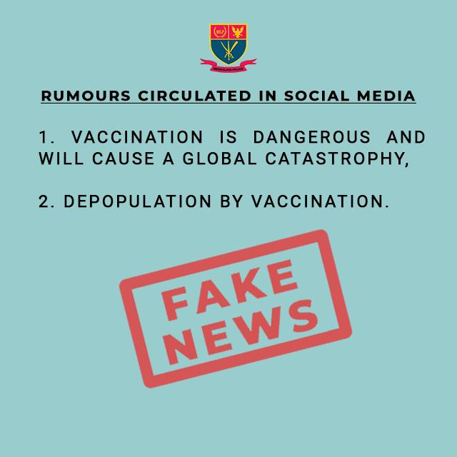 FAKE NEWS CIRCULATING IN SOCIAL MEDIA REGARDING COVID-19 VACCINATION DT. 01.07.2021