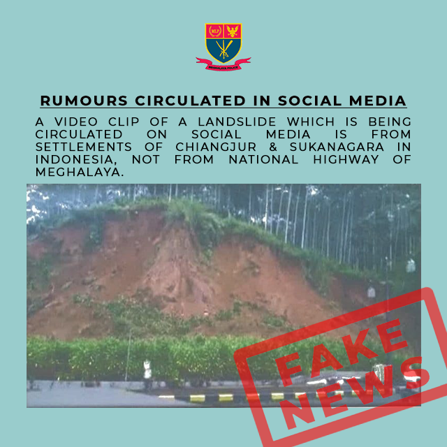 Fake news on Land Slide