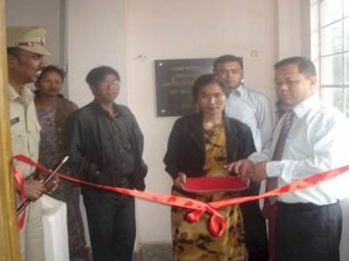 Inauguration of District Training Centre at West Khasi Hills, Nongstoin by Shri D.N. Jyrwa