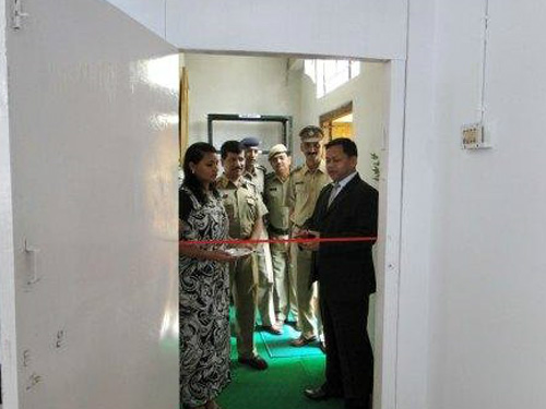 Inauguration of District Training Centre at Police Training School, Mawroh Shillong by Shri D.N. Jyrwa, Superintendent Of Police