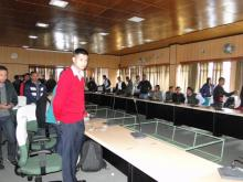 Interaction with newly appointed MPS Officers at DGP's Conferance Hall, Shillong