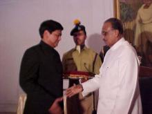 Shri P.J.P. Hanamen, IPS receiving award