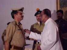 Shri S. K. Jain, IPS receiving award