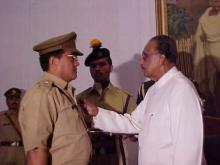 Shri P.D. Nongrum receiving award