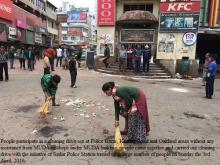 Cleaning Drive in Police Bazar, Keating Road and Aukland Areas organosed by Shillong Sadar Police Station on April 3, 2016