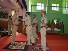 Shri J F K Marak, MPS SP North Garo Hills was awarded CRPF DGP's commendation disc and certificate by Shri P K Singh, IGP