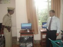 Shri D.N. Jyrwa, Superintendent Of Police with Police Officers