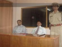 Shri D.N. Jyrwa, Superintendent Of Police On Stage with Officers at DTC