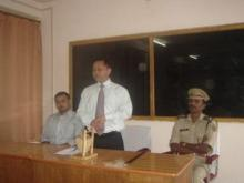 Shri D.N. Jyrwa, Superintendent Of Police Interacting With Police Officers