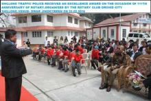 Shillong Traffic Police received an Excellence Award