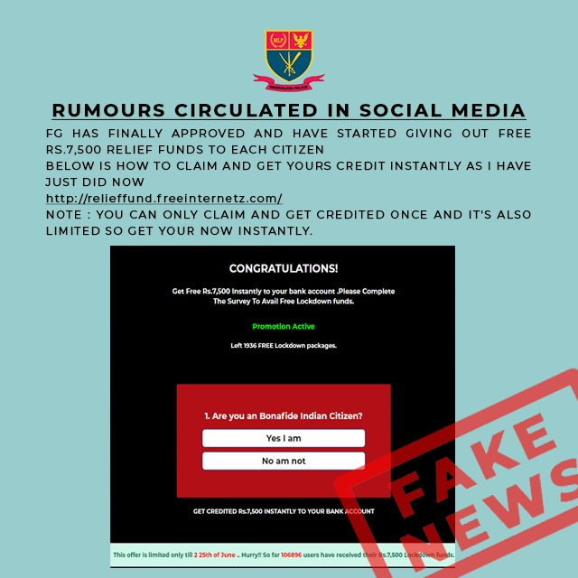 RUMOURS CIRCULATING IN SOCIAL MEDIA