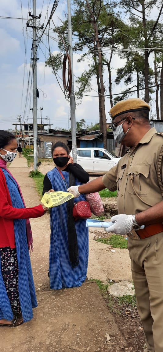 Continuing our efforts to raise awareness on Covid 19 Appropriate Behavior, our personnel conducted awareness and distributed pamphlets at Mihmyntdu, Jowai.