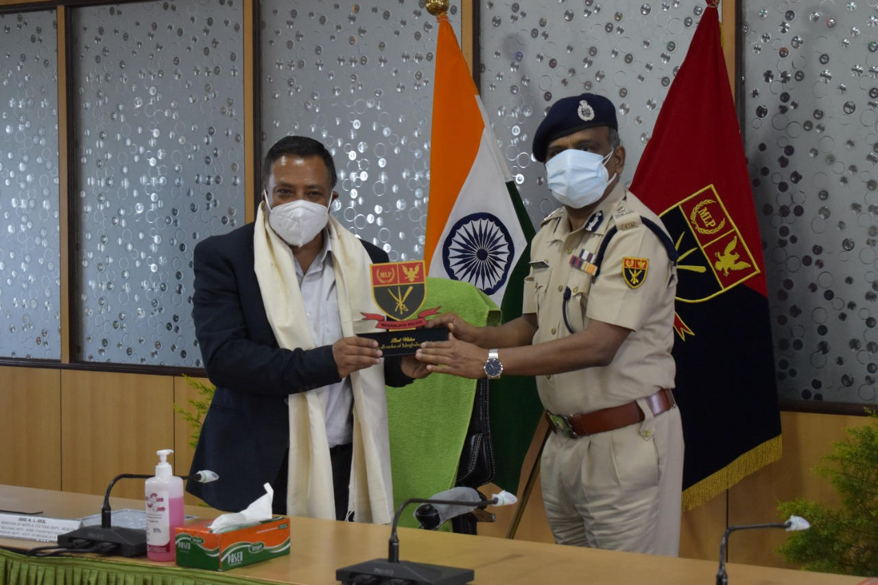 Launching of tribute song to all the COVID-19 frontline workers performed by officials of Police Department by Shri. A. L. Hek, Hon'ble Minister at Conference Hall, PHQ on 11.06.2021