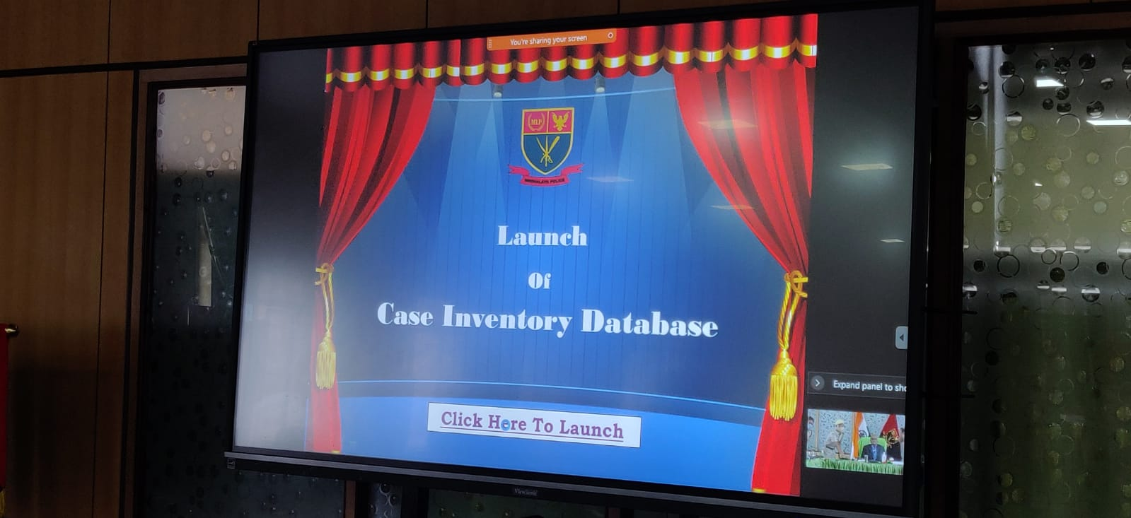On 30th July, 2021, Shri. R. Chandranathan, IPS, Director General of Police, Meghalaya launched Case Inventory Database portal at Police Head Quarters.